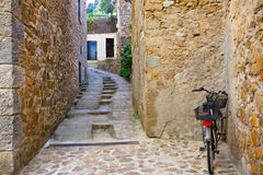 Cobbled streets and stone walls Royalty Free Stock Photography