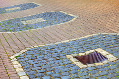 Cobbled surface. A cobbled surface on the promenade in small city Saarburg, Rheinland-Pfalz, Germany Stock Images