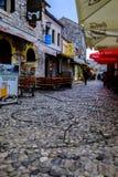 Cobbledstone banor, Mostar, Bosnien och Hercegovina arkivfoton