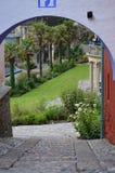 Cobbledweg - Portmerion-Dorp in Wales royalty-vrije stock afbeelding