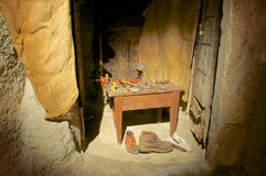 The cobbler, old crafts, Abruzzo, Italy. The cobbler, old crafts tribute Abruzzo, Italy royalty free stock photography