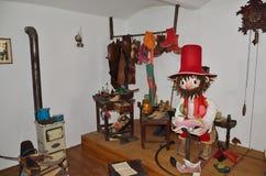 Cobbler's_workshop. Fairytale cobbler's workshop in the town Jicin stock image
