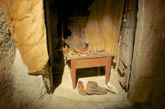 Cobbler, starzy rzemiosła, Abruzzo, Włochy Fotografia Royalty Free