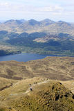 The Cobbler, Tarbet, Loch Lomond from Ben Lomond Royalty Free Stock Photography