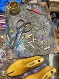 The Cobbler Workbench stock photos