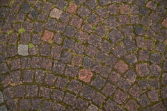 Cobbles στο παλαιό exture πόλεων Στοκ Εικόνες