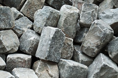 Cobbles background. Closeup cobbles construction material background royalty free stock images