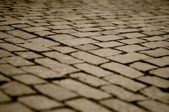 Cobbles on Charles Bridge in black and white Stock Images