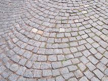 Cobbles. Close-up of cobbles on the road royalty free stock images