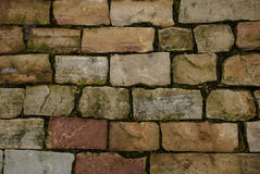 Cobbles. Cobbled stone floor. Textured background Stock Images