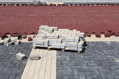 Cobbles at construction site Royalty Free Stock Images