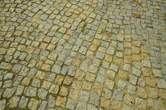 Cobbles. Detail shot of cobbles on a parking lot royalty free stock photography