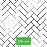 Cobbles grid stripped seamless pattern. Stock Photography