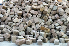 Cobbles heap. Big cobbles heap for street pavement royalty free stock photos