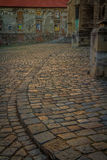 Cobbles last light. Evening light giving added colour to the cobbles of Bratislava Royalty Free Stock Photo