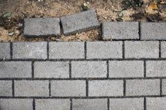 cobbles Modello di pietra della strada non finito Fotografia Stock