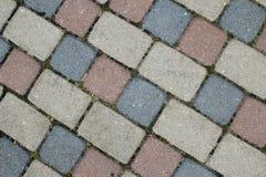 cobbles Modelo de piedra del camino fotos de archivo
