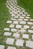 Cobbles pavement Royalty Free Stock Image