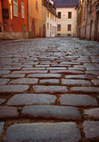 Cobbles on the pavement in the old town Royalty Free Stock Images