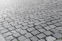 Cobbles with reflections of of sunlight. Royalty Free Stock Photos
