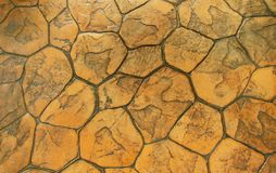 Cobbles. Stone road pattern. Top view Royalty Free Stock Image