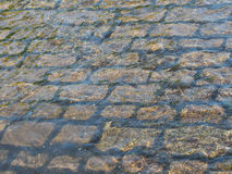 Cobbles in the Tissington Ford, Derbyshire Stock Photo