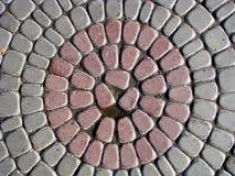 Cobbles van de cirkel Stock Fotografie