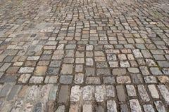 Cobblestone. A Flat Cobblestone road texture Stock Photography