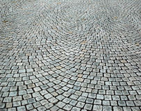 Cobblestone. Street in one big town in Europe Royalty Free Stock Photography