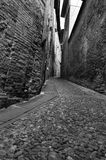 Cobblestone alley royalty free stock photography