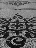 Cobblestone. Cobblestone art, at one street in Lisbon, Portugal royalty free stock photography