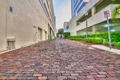 Cobblestone Back Alley Road Royalty Free Stock Photos