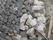Cobblestone blocks for paving Stock Image