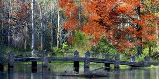 Cobblestone bridge in Arkansas royalty free stock image