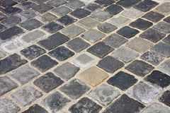 Cobblestone in  Budapest, Hungary Royalty Free Stock Photos
