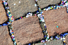 Cobblestone and confetti Royalty Free Stock Images
