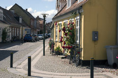 Cobblestone Corner Stock Images