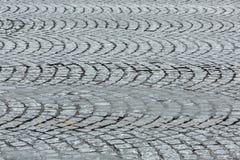 Cobblestone Detail. Detail of cobblestone road. Location: Champs Elysees, Paris Stock Photography