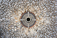 Cobblestone and drain Royalty Free Stock Images