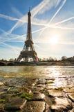 Cobblestone Eiffel Stock Photography