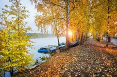 Cobblestone embankment of the Volga Royalty Free Stock Image