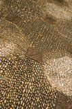 Cobblestone Floor. A closeup of a cobblestone flooring arranged in an interesting pattern Stock Images