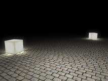 Cobblestone floor Stock Image