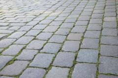 Cobblestone, Grass, Road Surface, Walkway royalty free stock image