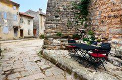 Cobblestone lane in Istria, Croatia Stock Images