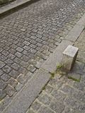 Cobblestone in Montmartre. High angle view of one of the typical streets in Montmartre Royalty Free Stock Images