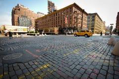 Cobblestone NYC velho Imagens de Stock