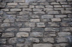 Cobblestone path. A cobblestone path in one of the street of Lviv Royalty Free Stock Photo