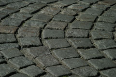 Cobblestone Path Texture. A close up of a cobblestone path Royalty Free Stock Image