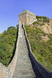 Cobblestone path up to the great Wall, Beijing, China Stock Photography